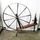 Antique Primitive Colonial Style Large Great Spinning Wheel Yarn Local Pickup