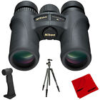 Nikon Monarch 7 8x30 Water Fog Proof Binoculars + Aluminum Travel Tripod Bundle