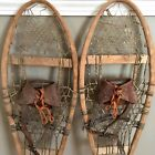Antique Wooden Leather Rawhide Snowshoes Rustic Decor Lodge Cabin Wall Hangings