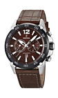 Festina Men's Quartz Watch with Brown Dial Chronograph Display and Brown Leat...
