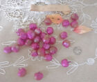 28 Antique Millinery Blown Glass Iridescent Pink Fruit Hat Trim Germany Flapper