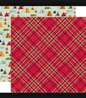 New Scrapbook Paper Double Sided 12 x 12 RV camping Yellowstone tent Fishing