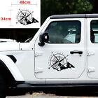 Waterproof 48x34CM Off Road Car Hood Side Body Compass Vinyl Sticker Decal Black