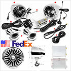 US Stock Silver 600W Motorcycle Bluetooth Stereo Speaker Music MP3 System AUX FM