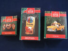 3 Hallmark Ornament Heart of Christmas #1*S Claus Taxi*Crayola #3 Bright Carols