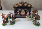 Vintage Italian Nativity Stable Shepards Camels Animals 19 Figures Fontanini Etc