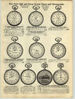 1919 PAPER AD Guinands Swiss Pocket Watch Timer Chronograph Jerome Park