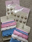 Anna Griffin Ribbon and Brads Hannah Baby Collection 2 packages of each NEW