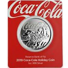 2019 1oz 999 Silver Coca Cola Holiday Coin Limited Mintage Collectible A465