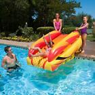 Swim Central 92IN Orange Yellow Black Aqua Fun Inflatable Aqua Launch Pool Slide