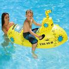 Swim Central 57IN Inflatable Yellow Aqua Fun Submarine Rider Pool Kids Float