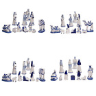 197 By 67 Porcelain Delft BLUE 11 PC Nativity Set CHRISTMAS DECOR Home