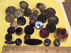 AMAZING! VINTAGE ANTIQUE ESTATE BUTTONS METALS BLACK GLASS Prettiest Mixed Lot!