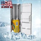 USB Mini Fridge Freezer Cans Drink Beer Cooler Warmer Travel Car Office Use ABS