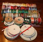 LARGE 120+ LOT OF RIBBON CRAFT WRAPPING HOLIDAY CHRISTMAS SCRAPBOOK