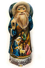 WOW LARGE 12 1 4 NATIVITY SCENE Hand Carved Painted Santa Claus Figurine Russian