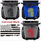 New 20x35 Black USA Flag Style Graphics Decal Sticker For Car Hood Window