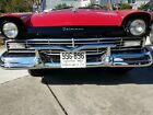 1957 Ford Fairlane Re chromed Show Quality Front Bumper with Accessory V Bar