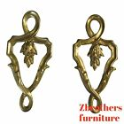 Pair Vintage Brass Ormolu French Regency Hardware Pull Knob Handles Decorative
