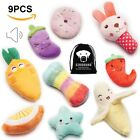 9 Pack For Small Dogs Puppy Squeaky Plush Dog Toys Set