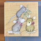 NEW House Mouse Stampabilities MISTLETOE MOMENT Wood Mounted Stamp