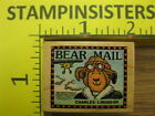 Bear Mail Postage All Night Media Rubber Stamp Stampinsisters 1735