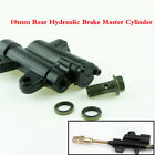Black 10mm Rear Hydraulic Brake Master Cylinder For Scooter Dirt Quad Bike ATV