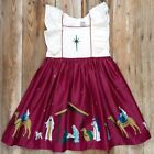NEW 7 8 ELEANOR ROSE Silent Night Nativity Manger Jesus ADALYN Christmas Dress