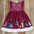 NEW 6 7 ELEANOR ROSE Silent Night Nativity Manger Jesus CATALINA Christmas Dress