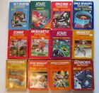 Atari game video cartridge box LOT Manual Combat Battle War Space Breakout