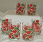 6 Vintage Culver LTD Glass Bloody Mary Highball Cocktail Glasses Tumblers