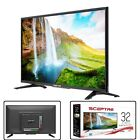 32 Inch LED HD TV Flat Screen HDTV Wall Mountable USB HDMI Class HD 720P Black