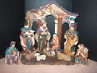 NATIVITY SCENETMD DESIGNS LARGE 7 PIECE SET  32780 RESIN MATERIAL 11  TL
