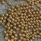 50 Vintage Gold Swarovski Crystal 5810 Pearl Beads 4MM