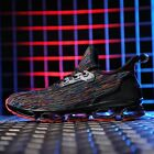 Mens Mesh Mixed Color Flats Sneakers Casual Running Shoes Breathable Lace Up X23
