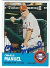 Autographed CHARLIE MANUEL 2012 Topps Heritage Card #318 - w COA