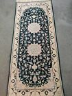 Old persian Naein wool rug 2.6x6 ft