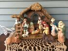 12 Piece Vintage Nativity Set with Musical Lighted Stable 11 Porcelain Figures