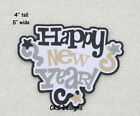Die Cut HAPPY NEW YEAR Page Title Scrapbook Embellishment Page Paper Piecing CKS