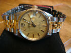 Tudor by ROLEX 2 Tone, Prince Oysterdate, 32mm, Gold Linen Dial, VERY NICE, A 9+