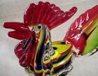 Rainbow Swirl Glass Rooster Figurine