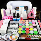 Complete UV Nail Art Kit Acrylic Nail Lamp Builder UV Gel Glitter Powder Liquid
