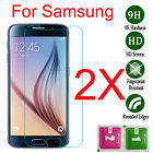 2X 9H Real Tempered Glass Film Screen Protector Guard Cover For Samsung Galaxy