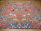 C1930 ANTIQUE CLASSIC(TREE OF LIFE)QOOM QUUM QOUM GHOOM 8x11 ESTATE SALE RUG