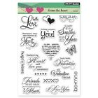 PENNY BLACK RUBBER STAMPS CLEAR FROM THE HEART NEW clear STAMP