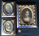 Vintage Italian Giltwood Frame Lot Florentine type with Religious Pics All EC NR