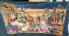 VINTAGE TAPESTRY VIBRANT COLORS Nativity Scene religious A012