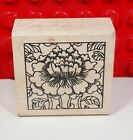 Paper Parachute Floral Burst Rubber Stamp Mounted