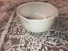 White Fire King for Sunbeam Mixing Bowl with Pour Spout Milk Glass 9.25