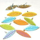 PASTEL LEAF BRADS 2 CUTE 4 COLORS MATCHES WITH DAISY FLOWERS 8 PCS